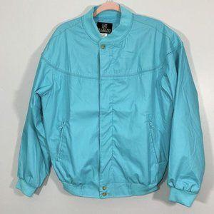 Vintage NWOT Haband Blue Derby Bomber Jacket Men's